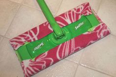 How to Make Reusable Swiffer Cloths. 2 ideas: 1 for dry mopping (no-sew) and 1 for wet mopping (easy sewing project).