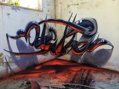 Amazing 3D-Illusion Graffiti Typography That Seems To Leap Off Walls - DesignTAXI.com