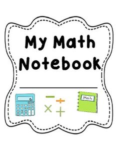 Here's a file with a math notebook cover, section dividers (Resources, Anchor Charts), and a rubric for grading.