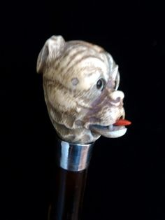 Automaton cane with ivory dog handle (England)
