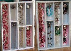 Repurposed cutlery tray as jewelry holder
