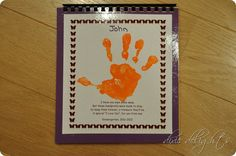 Handprint Book Keepsake