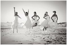After the last friend got married, everyone put their dresses on for one last photo shoot....must do this!