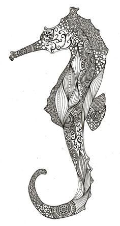 beautiful seahorses in love   Seahorse   cute-tattoo