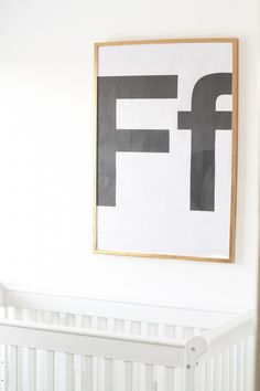 DIY Huge Letter Art on the Cheap.