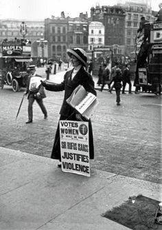 British Suffragette selling the Votes for Women, London, 1910
