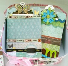 Embellished clip boards