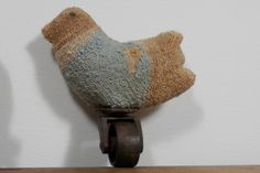 Spring PEEP easter primitive punch needle embroidery chick push toy on Etsy, $60.23 CAD