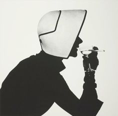 Lisa Fonssagrivesin Dior Hat with Martini and Cigarette, New York City, 1952, photo byIrving Penn