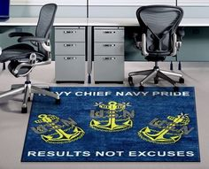 #NavyChief Pride Logo Rug - Results Not Excuses