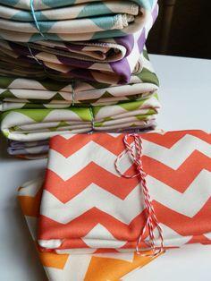 Organic Baby Blanket, Bright Chevron in ANY Color, Childrens Crib Bedding