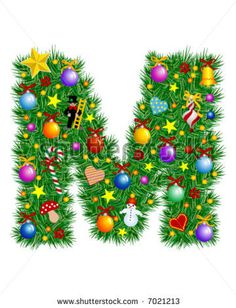 The letter m on pinterest alphabet letters leo and for B m xmas decorations