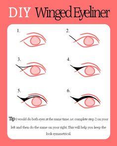 winged eyeliner tutorial