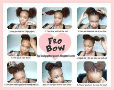 Fro Bow <3 cute idea