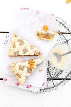 Mandarin Jam Tart with White Poppy Seeds
