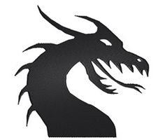 Heads Embroidery Design: Dragon Silhouette from King Graphics