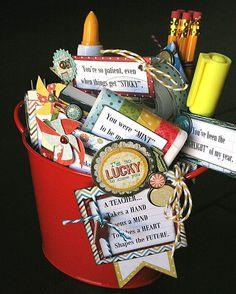 teacher gifts, craft, stuff, gift pail, appreci