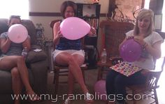 How Big is Mommy's Belly?  Party guest blow up balloons to see who gets closest to the size of the baby bump. Great for About to Pop Baby Showers