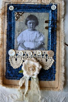 Fabric collage made with Paper Whimsy image