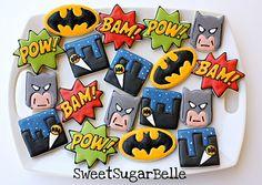 Superhero cookies by Sugarbelle