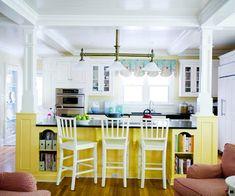 decor, idea, color, columns, hous, open kitchens, dream kitchens, design, island