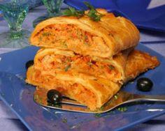 'Folhado de bacalhau', cod puff pastry @Restaurante Casa do Baixinho, near Porto.