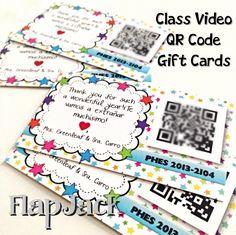 school, card templates, gift cards, qr code, freebi templat