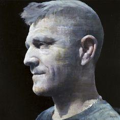 """François Bard, Jérôme, 2014, Oil on Canvas, 51"""" x 51"""" #Art #BDG #BDGNY #Contemporary #Painting #Portrait"""