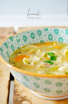 Homemade Turkey Soup | easy, wholesome and delicious