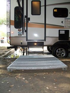 RV Camping w/Travel EASY Decks: Let us get you out of the mud and muck.