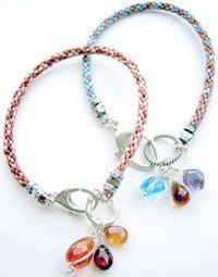 Fairy ribbon kumihimo bracelets