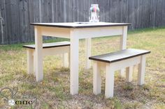 Kids Table - Shanty-2-Chic - this is going on the Christmas Elves list for 2013.