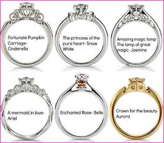 Disney Princess Engagement Rings! I would say mine is Fortunate Pumpkin carriage-Cinderella! Love it!