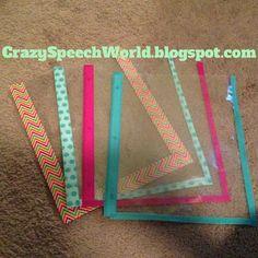Crazy Speech World: DIY Dry Erase Pockets with washi tape