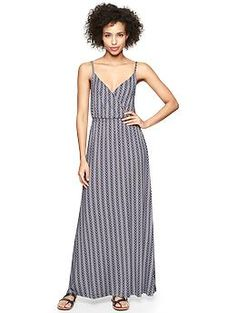 Zigzag print wrap-front dress | Gap $79.95
