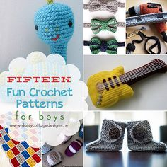 15 Crochet Patterns for Boys by Daisy Cottage Designs, via Flickr