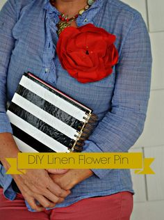 This DIY Linen Flower Tutorial is easy to follow and takes less than an hour.  Emerson Fry is no longer making their linen flowers so this is an easy to make alternative, with step by step photos and instructions.  via lifeingrace