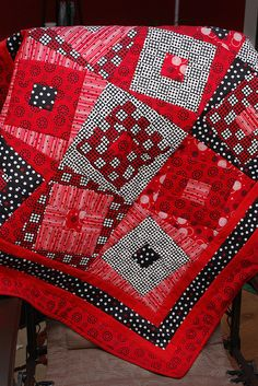 red. Twist on a crazy quilt.