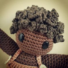 Amigurumi doll hair tutorial #amigurumiscrochet #amigurumis #amigurumi #doll #crochet hair by lanasyovillos, via Flickr