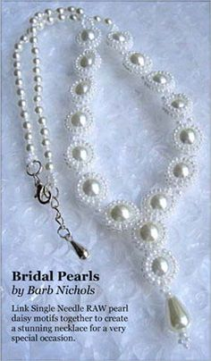 Bridal Pearls Necklace by Barb Nichols - A project from Bead-Patterns the Magazine Issue 23 (May/Jun 2009) Wedding Issue