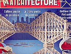 """This Matchitecture Bridge matchstick model kit includes everything needed to make this matchstick model kit.    Included are all the pre-cut card formers along with the glue, matchticks and full instructions.  These instructions will guide you through each stage of the construction until you finally achieve the finished product. We would highly recommend this Matchitecture Cantilever Bridge matchstick model Kit.    Finished size of model:  L 914mm (36"""")  H 191mm (7 1/2"""")  W 102mm (4"""")"""
