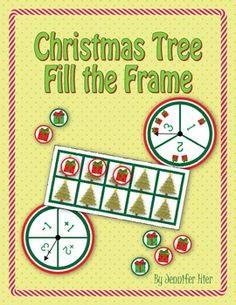 Christmas tree ten frame game