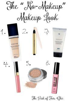 """The """"no makeup"""" makeup look"""