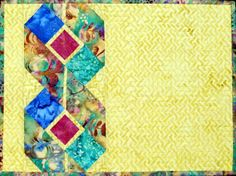 """Table Ribbons"" pattern from Happy Stash Quilts includes directions for 5 different size table runners and 4-12 place mats. pattern, ribbon, stash quilt, quilt idea, place mats"