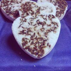 Fresh Picked Beauty: Triple Lavender Bath Bomb Hearts