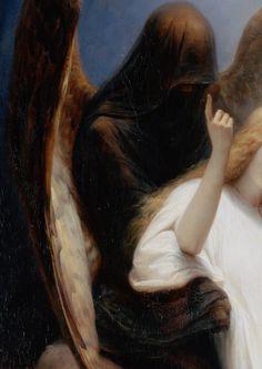 Angel of Death,detail,Emile Jean Horace Vernet.