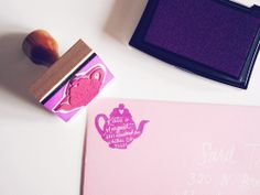 custom tea pot return address stamp