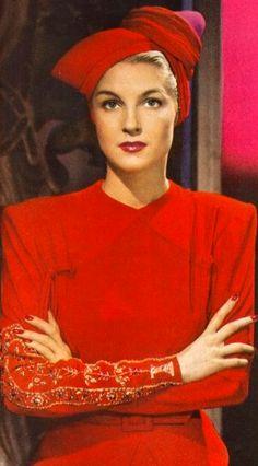 1940's Fashion. #millinery #turban #judithm