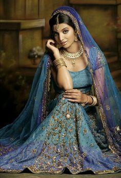 Lengha Choli in blue