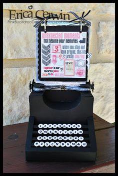 Pink Buckaroo Designs: Artisan Award 2013 Entry #4- Vintage 3D Typewriter Album